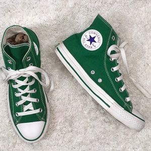 Converse bright green high tops